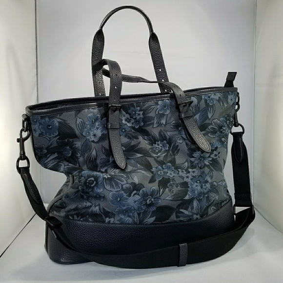 c4df063316af Coach Bags | Mercer Tote In Blue Hawaiian Print | Poshmark